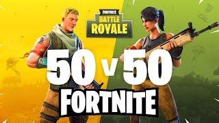 NEW 50 vs 50 MODE - Insane Battles! - Fortnite Battle Royale