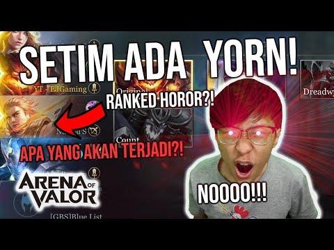 HOROR! Ketika RANKED DAN SETIM DENGAN SANG BAGINDA KAKEK LEGEND YORN! - Arena of Valor