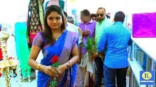 സീരിയൽ നടി ഗായത്രിയെ കാണാൻ ജനപ്രവാഹം Serial Actress Gayathri Arun Inaugurate Textiles Shop