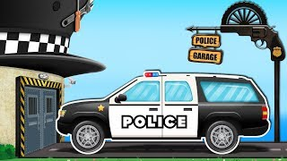 Kids Playtime | Rusty Car Garage | Police SUV | Police Car | Street Vehicles