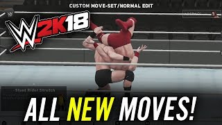 WWE 2K18 - ALL NEW MOVES ADDED!! (WWE 2K18 Gameplay)