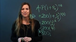 How to Compound Interest Using Exponential Functions : Math Measurements