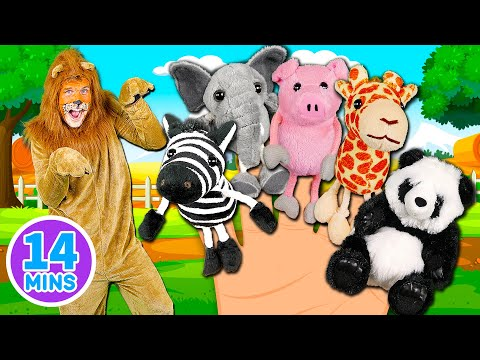 Animals Finger Family Song Mega Finger Family Collection Part 2 Learn to count with the animals