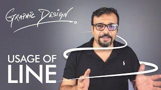 Visual Element LINE - Graphic Design Theory Class 2 Urdu / Hindi