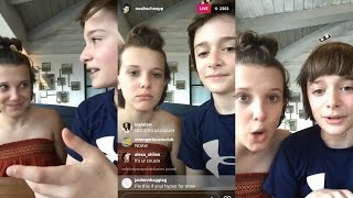 Noah Schnapp | Instagram Live Stream | 6 May 2017 w/ Millie Bobby Brown