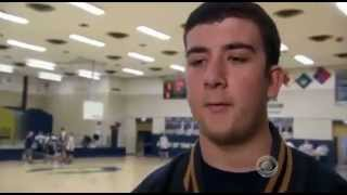 High School Student (Basketball player) passes ball to opposite team player and makes the difference
