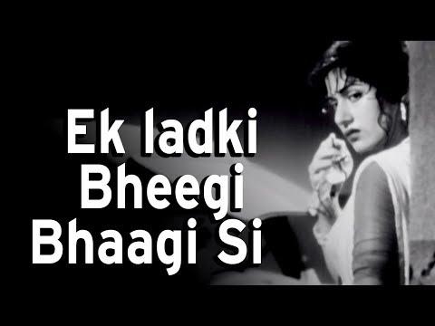 Xxx Mp4 Ek Ladki Bhigi Bhagi Si Chalti Ka Naam Gaadi Songs Kishore Kumar Madhubala Rain Song 3gp Sex