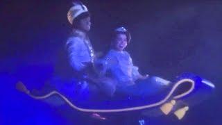 "NEW Fantasmic! ""Aladdin"" Flying Carpet & Genie Scenes at Disneyland 2017"