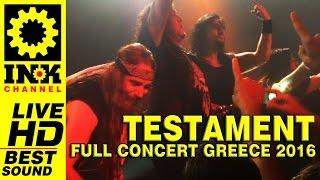 TESTAMENT - Full Concert in Greece 2016