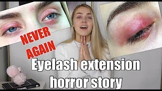 NEVER GETTING EYELASH EXTENSIONS AGAIN | Natasha North