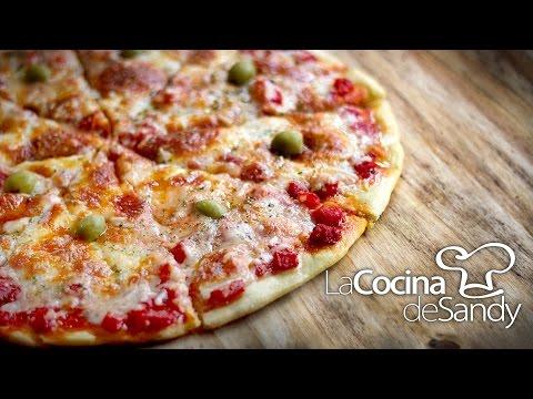 Como hacer pizza casera y masa para pizza en recetas caseras