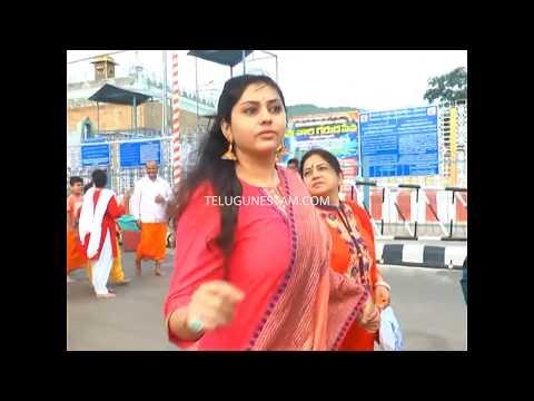 Telugu and Tamil actress Namitha with family in Tirumala Videos