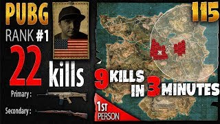 PUBG Rank 1 - Summit1G 22 kills SOLO - 1st person PLAYERUNKNOWN'S BATTLEGROUNDS #115