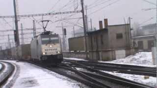 lokomotiva 189 TRAXX metrans s vlakom NEx