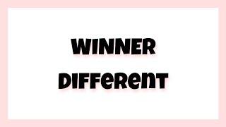 Winner(위너) - Different [hangul,romanization,english sub]
