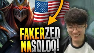 When Faker Plays Zed in NA SoloQ! - Faker is Ready to Play Zed in NA All Stars! | SKT T1 Replays