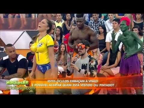 Brazil FIFA Football Soccer Body Paint Girl