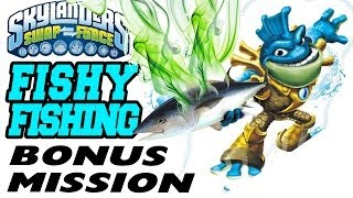 Lets Play Skylanders Swap Force: Fishy Fishing Bonus Mission w/ Rip Tide