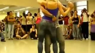 Amazing cute girl dancing kizomba
