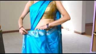 How To Wear South Silk Saree to Look Really Slim(South indian sari draping)