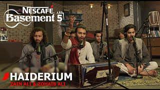 HAIDERIUM | Zain Ali & Zohaib Ali | NESCAFÉ Basement Season 5 | New Qawwali 2019