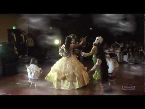 Jaquelin Conejo 15 Años Vals baile sorpresa la bella y la bestia quinceañeras