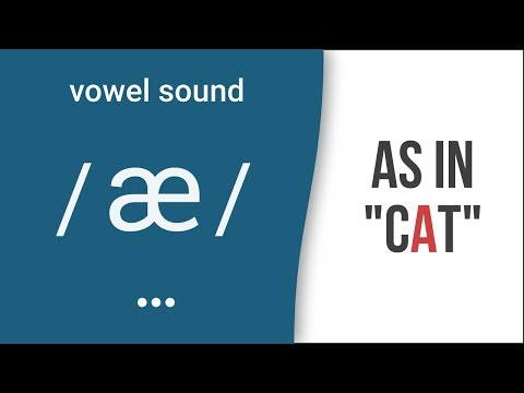 "Vowel Sound / æ / as in ""cat""- American English Pronunciation"