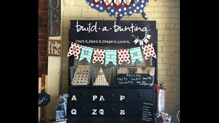 All the Components for Custom Personalized Wooden Bunting Banners for Any Occasion