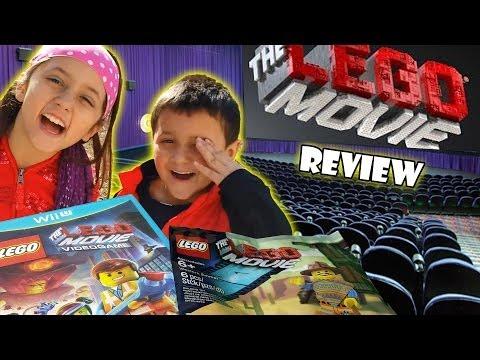 Lego Movie review by Skylander Boy & Girl   Gamestop Exclusive Western Emmet Build FAIL Video Game