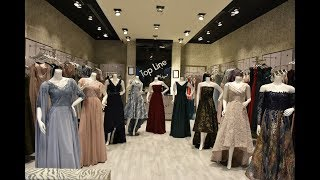 أفضل و أجمل فساتين السهرات و الزفاف في العالم 2019 ماركة Top Line Dress