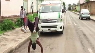 Meet the Ethiopian man who walks on his hands - BBC News