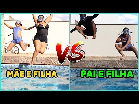 MÃE E FILHA VS PAI E FILHA GINCANA DE FÉRIAS