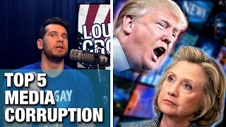 MEDIA CORRUPTION: Top 5 Trump vs Hillary Examples!