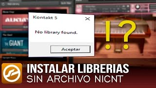 kontakt 5 no library found