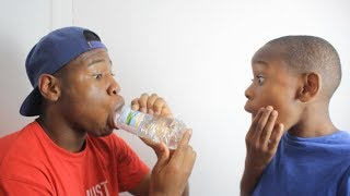 i can drink this water bottle in 1 second.. **PRANK!** [MUST WATCH]