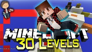 Minecraft: 30 LEVELS? OF PARKOUR RACE w/Bajan Canadian and JeromeASF