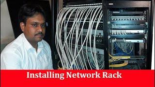Installing Network Rack | Patch Panel | Switch | Fiber Cable | by Tech Guru Manjit