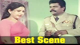 Neethiyin Marupakkam Movie : Y. Vijaya, And Vinu Chakravarthy, Best Scene