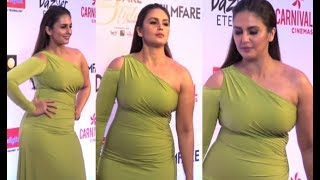 Huma Qureshi Hot At Filmfare Glamour And Style Awards 2017