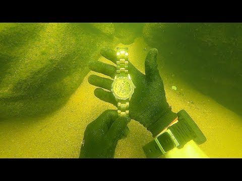 Scuba Diving for a Missing 15 000 Diamond Rolex Unbelievable Find