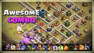 Th12 Awesome COMBO: 2Pekka + BoWitch | After JUNE Update | TH12 War Strategy #13 | COC 2018 |