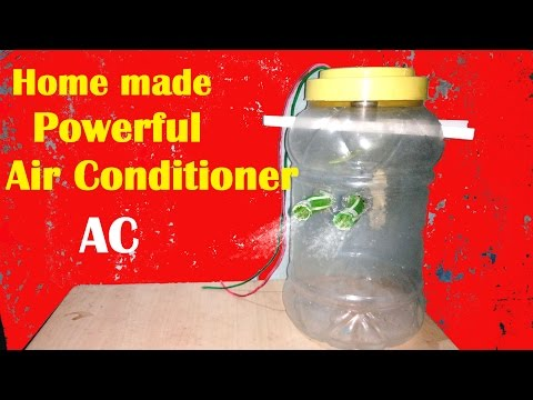 How to Make Homemade Powerful AC Step by Steps ( Hindi Video )