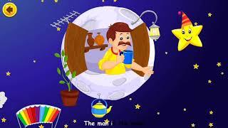 Man On The Moon | Kids Nursery Rhymes Songs | Sing Along With Lyrics