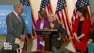 WATCH: Sen. Schumer, Rep. Pelosi hold news conference to discuss teacher pay