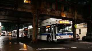 2011 NovaBus LFS Articulated 5804 On The Bx4, 2011 New Flyer C40LF CNG 316 & 2004 Orion VII CNG 7709