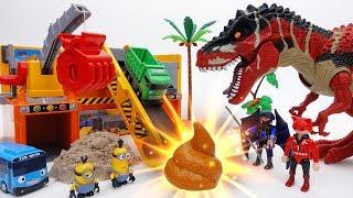 Stolen Gold in Dinosaur Poop? Gold Mine of Minions & Tayo