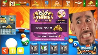 8 Ball Pool the New Update 4.1.0   INSANE Trick Shots on 150M Table 😨