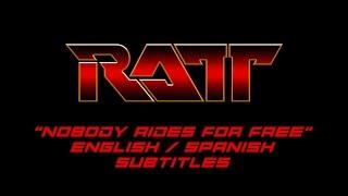 Ratt - Nobody Rides For Free (English - Spanish subtitles) HQ Audio