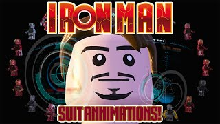 LEGO Marvel's Avengers - All Iron Man Suit Up Animations (House Party Protocol Achievement/Trophy)