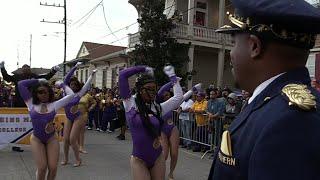 Southern University SU vs Miles College Marching Band - 2018 Bacchus Mardi Gras Parade